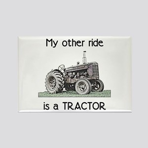 Ride a Tractor Rectangle Magnet