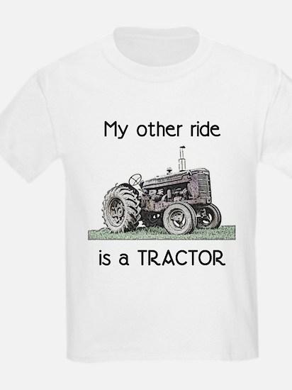 Ride a Tractor Kids T-Shirt
