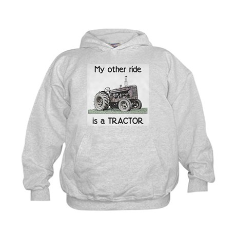 Ride a Tractor Kids Hoodie
