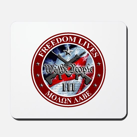Three Percent - We The People (Flag) Mousepad