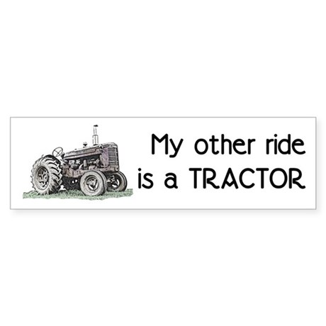 Ride a Tractor Bumper Sticker