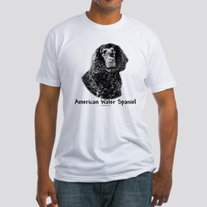 Water Spaniel Charcoal Fitted T-Shirt