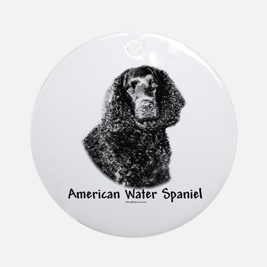 Water Spaniel Charcoal Ornament (Round)