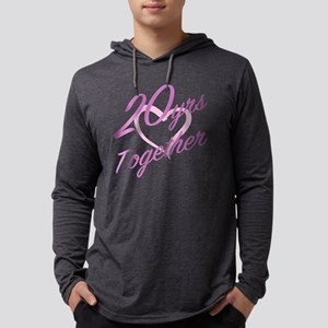 Cute 20th Anniversary Mens Hooded Shirt