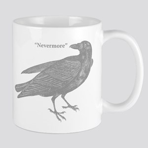 Grey Nevermore Raven Mug