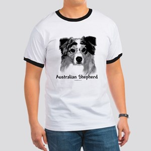 Aussie Charcoal Ringer T