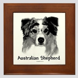 Aussie Charcoal Framed Tile