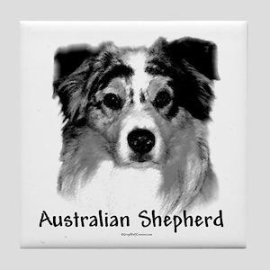 Aussie Charcoal Tile Coaster