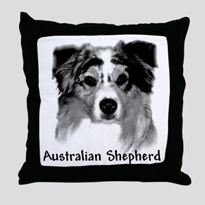 Aussie Charcoal Throw Pillow