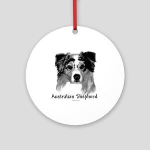 Aussie Charcoal Ornament (Round)