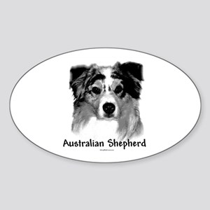 Aussie Charcoal Oval Sticker