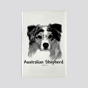 Aussie Charcoal Rectangle Magnet