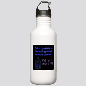 Faith Consists In Believing - Voltaire Water Bottl