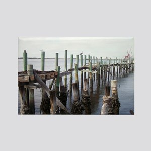 Old Fernandina Docks Rectangle Magnet