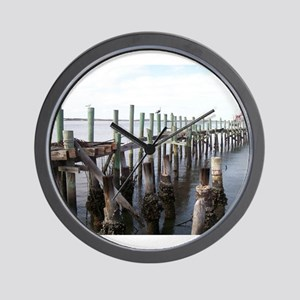 Old Fernandina Docks Wall Clock