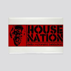 House Nation Rectangle Magnet