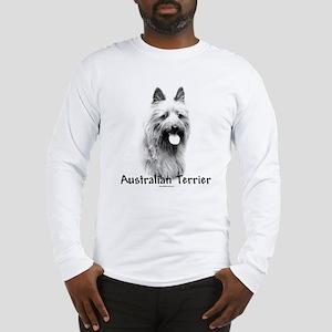 Australian Terrier Charcoal Long Sleeve T-Shirt