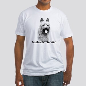 Australian Terrier Charcoal Fitted T-Shirt