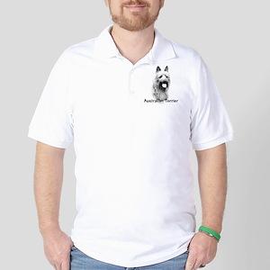 Australian Terrier Charcoal Golf Shirt