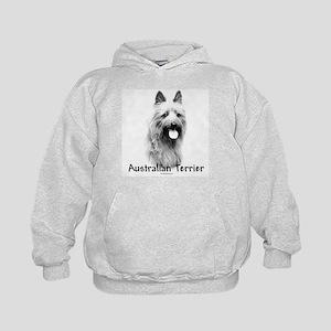 Australian Terrier Charcoal Kids Hoodie