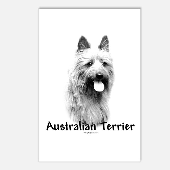 Australian Terrier Charcoal Postcards (Package of