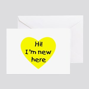 Hi im new here greeting cards cafepress hi im new here yellow greeting cards package m4hsunfo