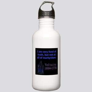 I Am Very Fond Of Truth - Voltaire Water Bottle