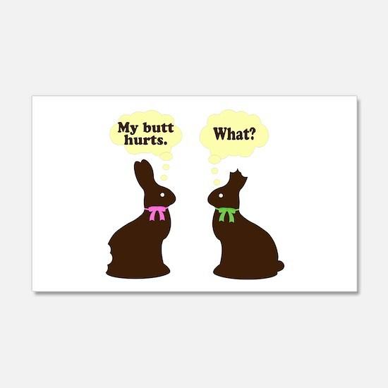 My butt hurts Chocolate bunnies Wall Decal