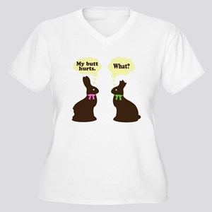 My butt hurts Chocolate bunnies Women's Plus Size
