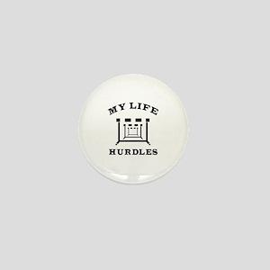 My Life Hurdles Mini Button