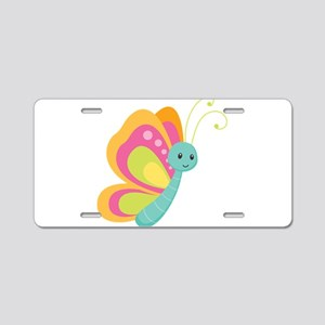 Butterfly Dreams Aluminum License Plate