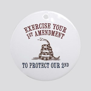 Protect Our 2nd Ornament (Round)