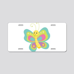 Seamless Butterfly Aluminum License Plate