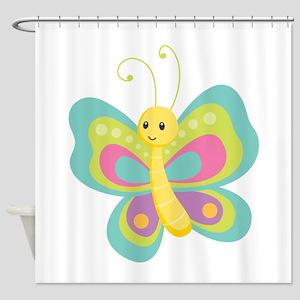 Seamless Butterfly Shower Curtain