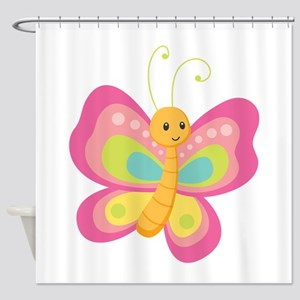 Butterfly Wishes Shower Curtain