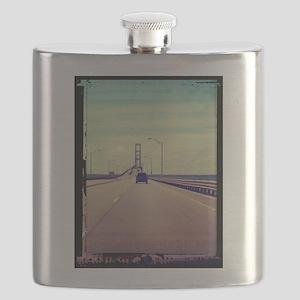 Michigan Road Trip Flask
