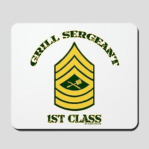 GRILL SERGEANT-1ST CLASS Mousepad