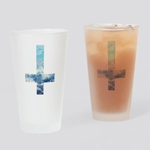 Cloudy Cross Drinking Glass