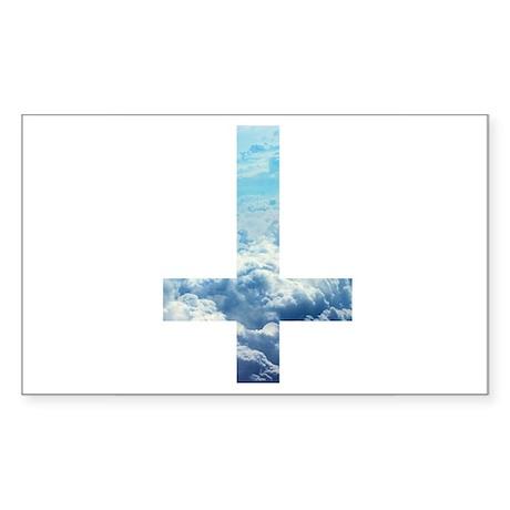 Cloudy Cross Sticker