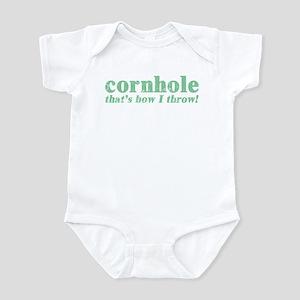 Cornhole, that's how I throw Infant Bodysuit
