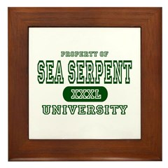 Sea Serpent University Framed Tile