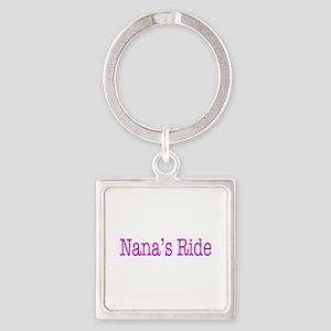 Nanas Ride Square Keychain