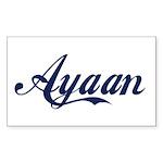 Ayaan name Sticker