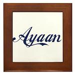 Ayaan name Framed Tile