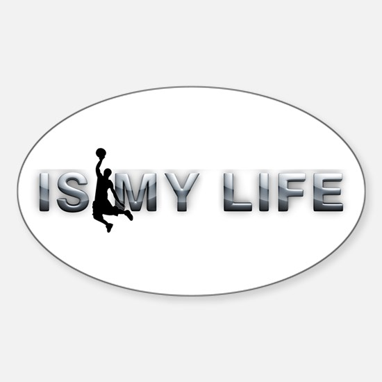 Hoops is My Life Sticker (Oval)