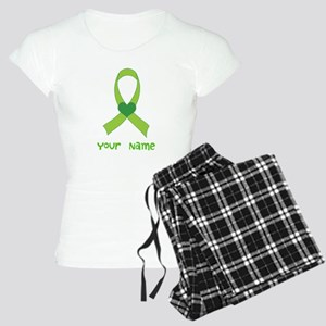 Personalized Green Heart Ribbon Women's Light Paja