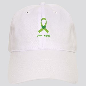 Personalized Green Heart Ribbon Cap