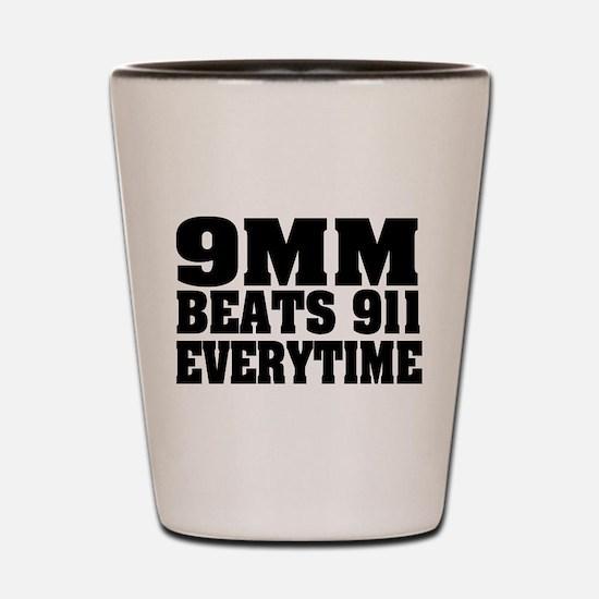 9MM Beats 911 Shot Glass