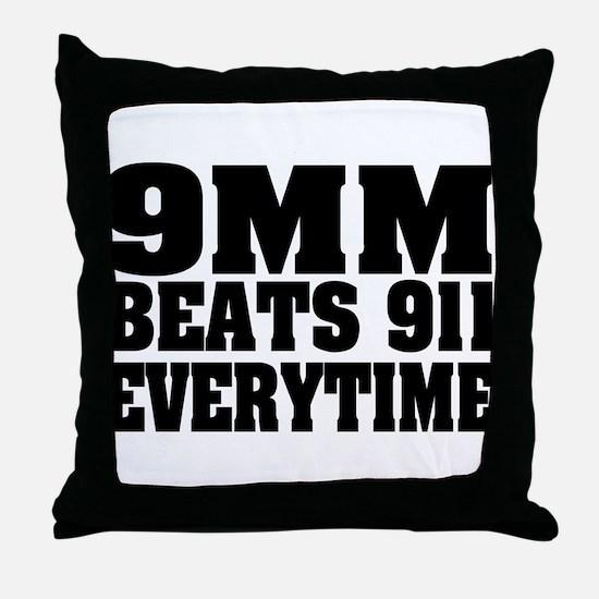9MM Beats 911 Throw Pillow