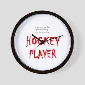 Too Close Hockey Wall Clock